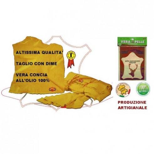 VERA PELLE DI DAINO SCAMOSCIATA 100% NATURALE 58X39